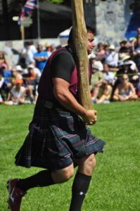 Tossing the Caber.