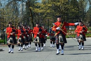 RCMP Pipe Band on parade