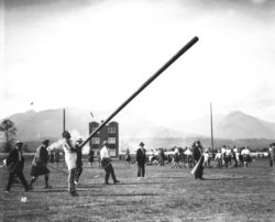 Tossing the Caber, Vancouver, August 11, 1928. Photo courtesy Vancouver Archives.